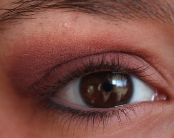 Mineral Makeup Eyeshadow - Burgundy Matte Finish Shadow - Burgundy Liner - Vegan Makeup