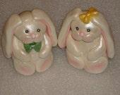 Gumpaste Bunny Cake Topper for Easter, Baby Showers, Children Birthday Parties