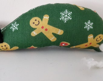 Christmas Catnip Mouse -  Gingerbread Man design - Made with Extra Strong Catnip
