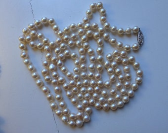 14k Opera length saltwater pearl necklace