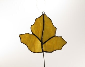 Stained Glass Fall Leaf - 4 piece Suncatcher - Price Includes Shipping