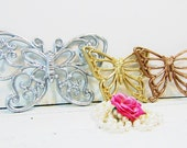 Vintage Butterflies Gold Copper Silver Nursery Girls Room Homco Syroco