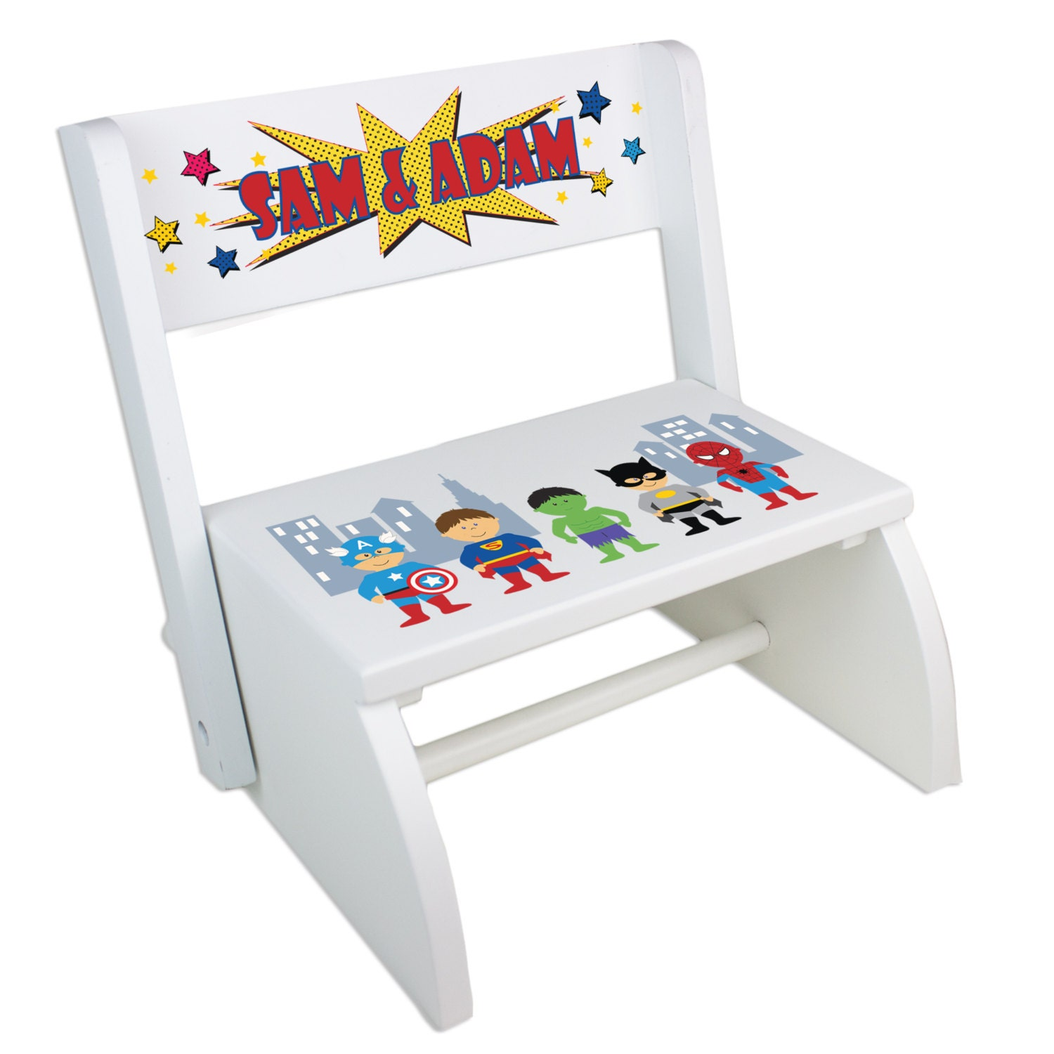 Boys Personalized Superhero Step Stool Great Super Hero Boys