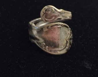 "Vintage Adjustable Spoon Ring, Size 6.5, 1847 Rogers Bros"", Silver Plated, Collectable Ring, Item No. B024"