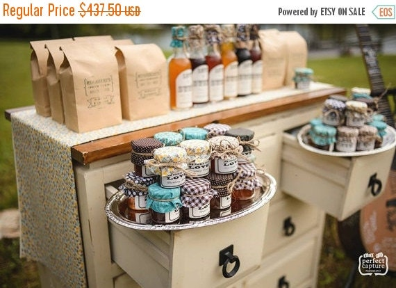 15% Off Sale Ends 1/31 175 Custom Wedding Favors in Mini Mason Jars