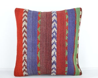 Kilim pillow, Kilim Pillow Cover k535, Turkish Pillow, Kilim Cushions, Bohemian Decor, Moroccan Pillow,  Bohemian Pillow, Turkish Kilim