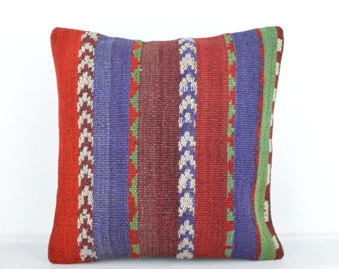 Kilim pillow, Kilim Pillow Cover k535, Turkish Pillow, Kilim Cushions, Bohemian Decor, Moroccan Pillow,  Bohemian Pillow, Turkish Kilim