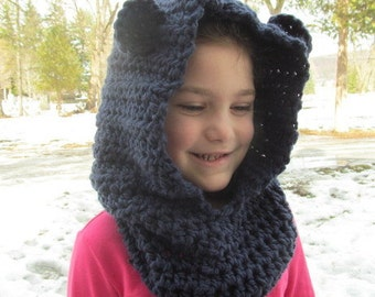 Teddy Bear Hood and Scarf