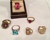 Destash 6 costume jewelry rings