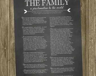 The Family Proclamation - 18x24/11x14