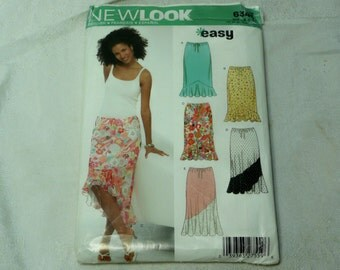 New Look 6343 Pattern, Skirt, Size A 8-18