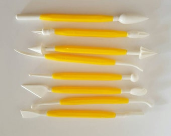 8 Piece 16 Different Sculpting Tools, Polymer, Clay Tools, Cake Decorating
