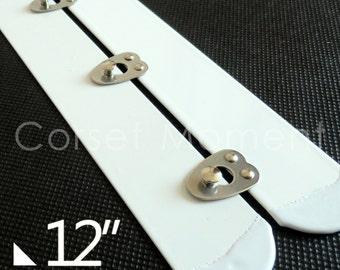 "Standard Corset Busk,Corset Fastener,2"" Wide,12"" Long,6 Hooks"