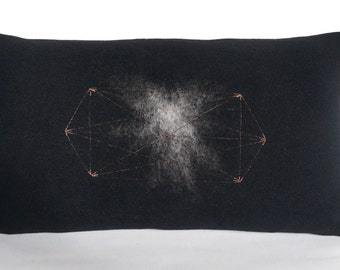 Cosmic Starburst / Abstract / Geometric / Metallic Accent Pillow