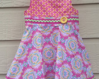 Cotton summer dress for 24 month old. Comes with a diaper cover.