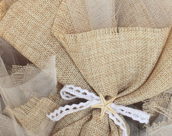 Canvas beach wedding favors-Orthodox wedding bombonieres