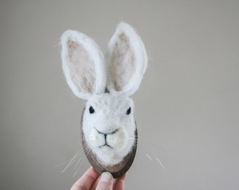 Felt Faux-Taxidermy Hare (Lepus)
