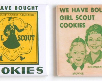 Girl Scout Cookies Fridge Magnet Set