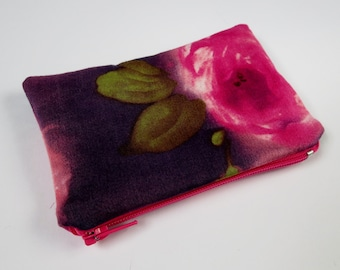 Coin Purse, Pink, Purple Green