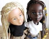 CUSTOM ORDER Single Braids Bratz Transformed into Just Kids, Bratz dolls changed