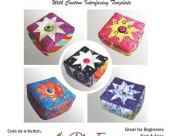 Pincushion Pattern, Easy Folded Star Pin Cushion by Plum Easy Patterns, Beginner, Sewing Gift