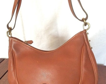 WEEKEND SALE Vintage Genuine Dooney & Bourke Tan Leather Shoulder Bag Made in U.S.A.