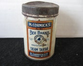 Vintage Advertising-Spice-Tin-McCormick Cream of Tartar-BEE-BRAND