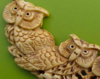 Carved bone owl piece..#5