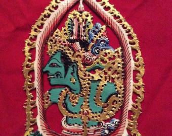 Hari Krishna / Kreshna - Gorgeous Authentic Shadow Ornaments - Wayang Kulit Gantungan