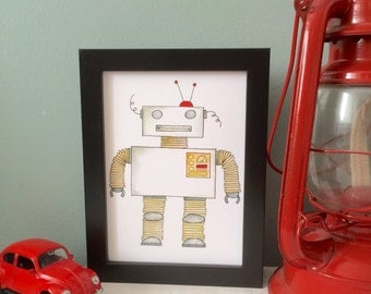 Pickles the Robot - 5x7