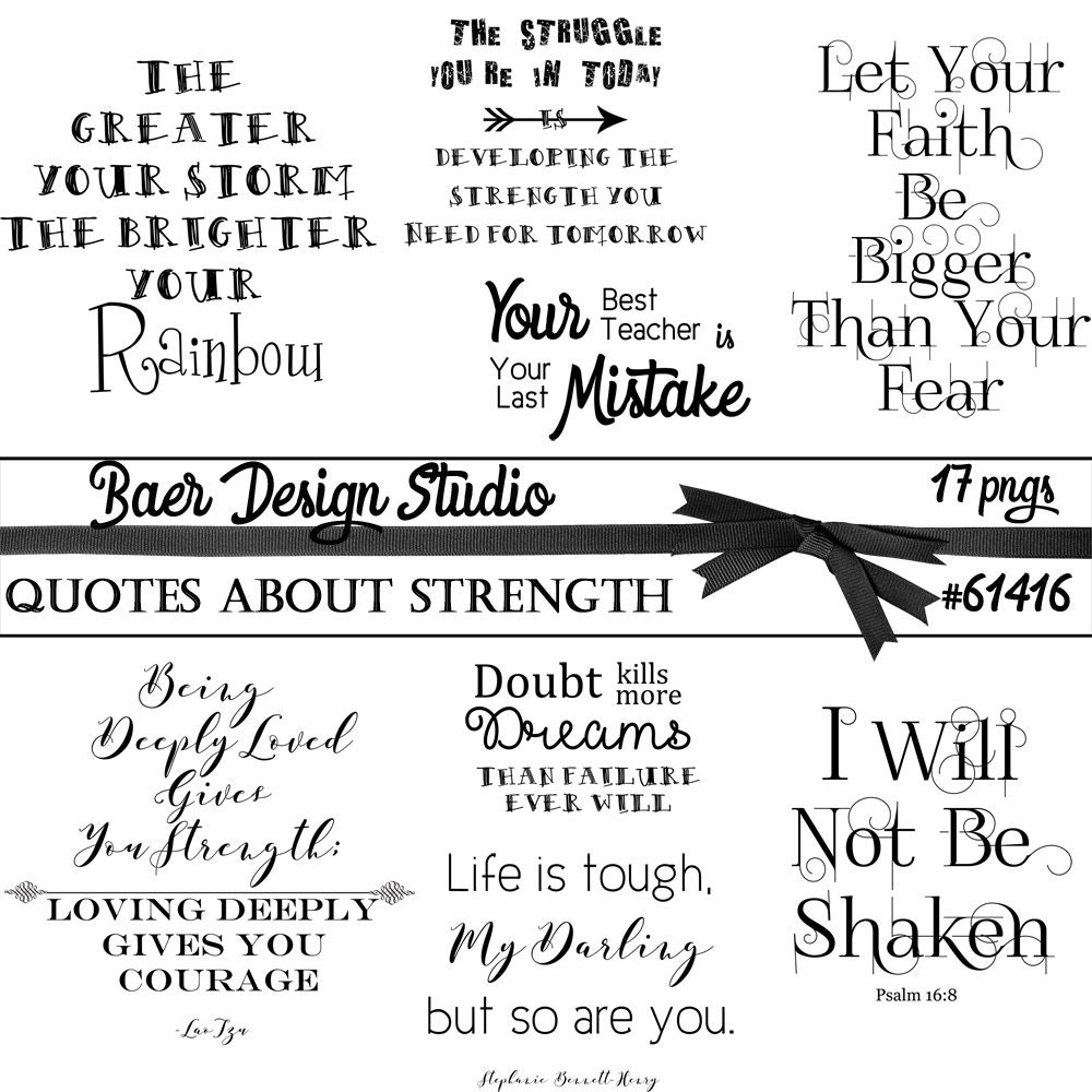 Strength Quotes: Quotes About Strength Word Art About Strength Inspirational