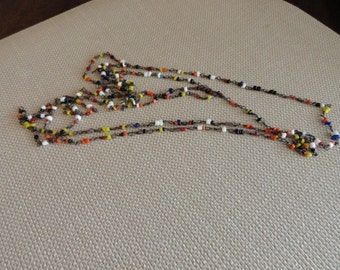 C009) Vintage Glass bead and Wire Necklace
