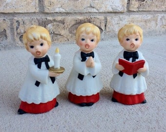 Vintage Homco Choir Boys Set of Three