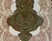 Victorian Cast Iron Door Knocker North Wind Cherubs Large