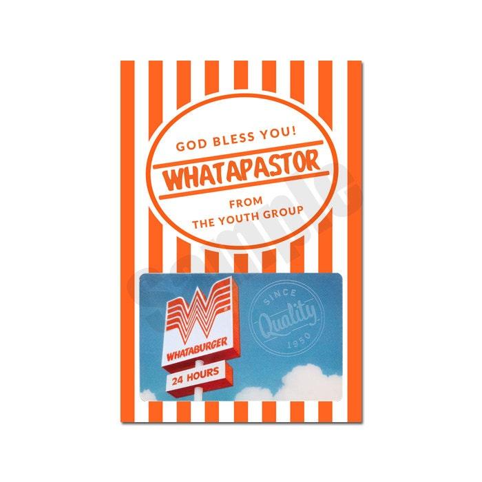 Whataburger Gift Card Holder for Christmas, Teacher, Coach, Pastor ...