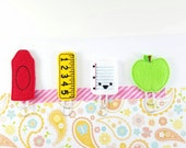 Set of four paper clip book maker, planner marker,  agenda marker, school theme, teacher gift, stationary, page maker