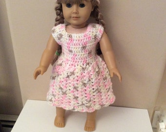 "Crochet 18"" doll dress and hat"
