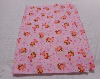 Brand New Baby Strawberry Shortcake Fabric 100% Cotton 36 inches x 44 inches