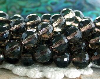8mm ~ 128 Faceted Smokey Quartz Beads, Semi Precious Stone Beads, Gemstone Beads  SP-340