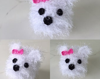 West Highland Terrier Hat - Westie Hat All Sizes Available - Crocheted Westie Beanie- Great  photo prop
