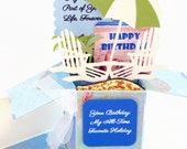 Custom Explosion Box Card - Personalized Handmade - Custom Birthday Greeting Card - Card In A Box - Pop Up Card - FREE SHIPPING