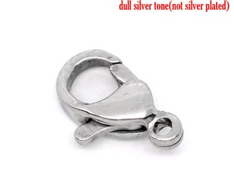 SALE 3 Stainless Steel Lobster Clasps - 10x6mm - Ships IMMEDIATELY from California - FC140