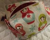 Merry Matryoshka Dolls Boxy Bag Ready to ship
