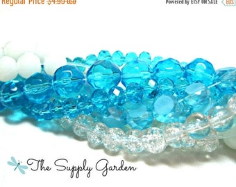 CLEARANCE Blue Skies Glass Bead Mix