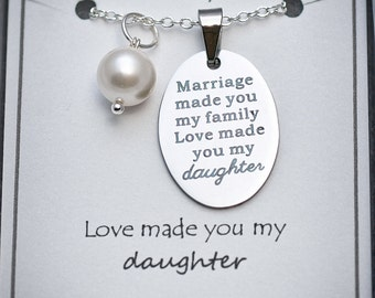 Stepdaughter Necklace -SD- Gift For Daughter In Law, Gift from Stepmom, Gift from Groom's Mom, Gifts for Stepdaughter, Daughter Necklace