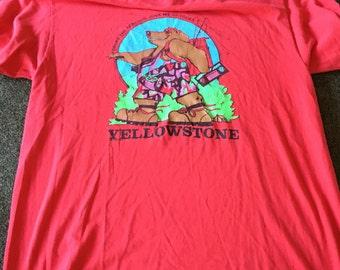 Vintage Yellowstone National Park stedman tshirt geysers beach XL