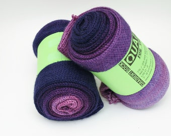 Sock Yarn, Fingering Weight, Gradient, Ombre, Merino Wool and Nylon, 100 grams, 4 ounces, Hand Dyed,The Grape Escape