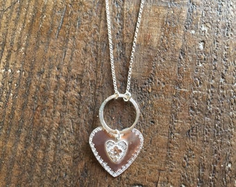 Long Ditzy Heart Necklace