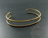 5pcs 60mm vintage style antiqued bronze plated double wire adjustable bangle bracelet supplies findings 1900141
