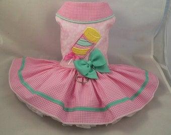 Dog dress.Popsicle by Poshdog. Tutu skirt.